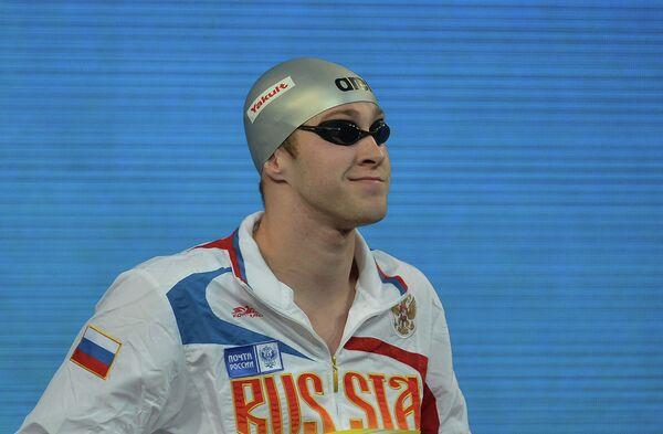 Россиянин Вячеслав Андрусенко на дистанции 200 м вольным стилем