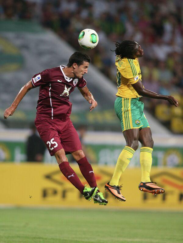 Игровой момент матча Кубань - Рубин
