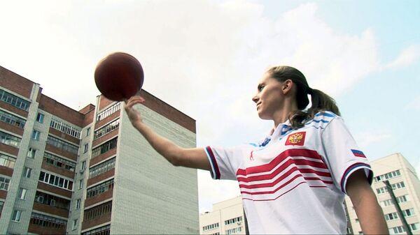 Российские баскетболистки устроили мастер-класс в одном из дворов Казани