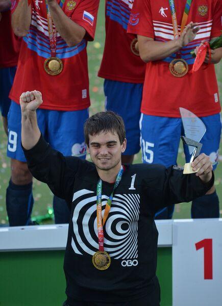 Вратарь российской сборной Марат Гафаров