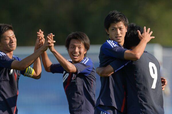 Игровой момент матча Япония - Россия