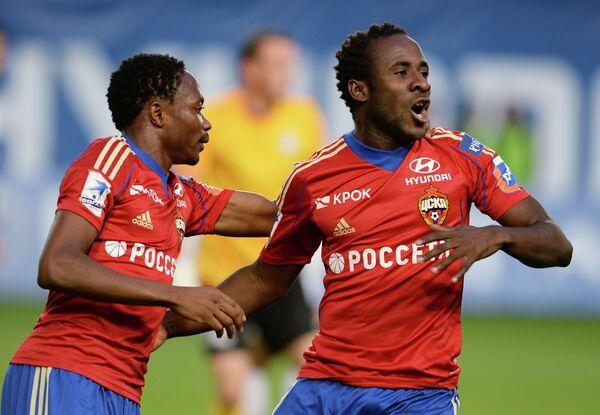 Игроки ЦСКА Ахмед Муса (слева) и Сейду Думбия