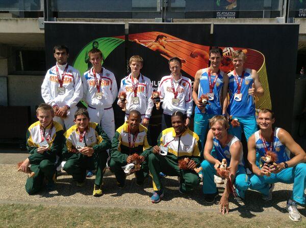 Призеры IPC чемпионата мира в эстафете 4х100 метров (классы Т35-38)