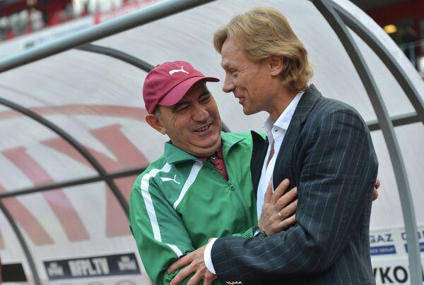 Главный тренер Рубина Курбан Бердыев (слева) и главный тренер ФК Спартак Валерий Карпин