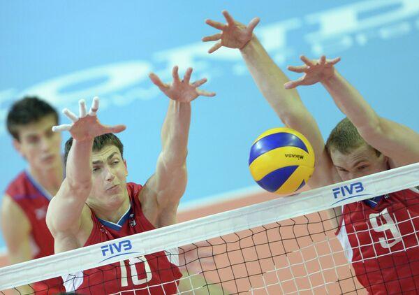 Волейбол. ЧМ среди молодежных команд. Матч Россия - Бразилия