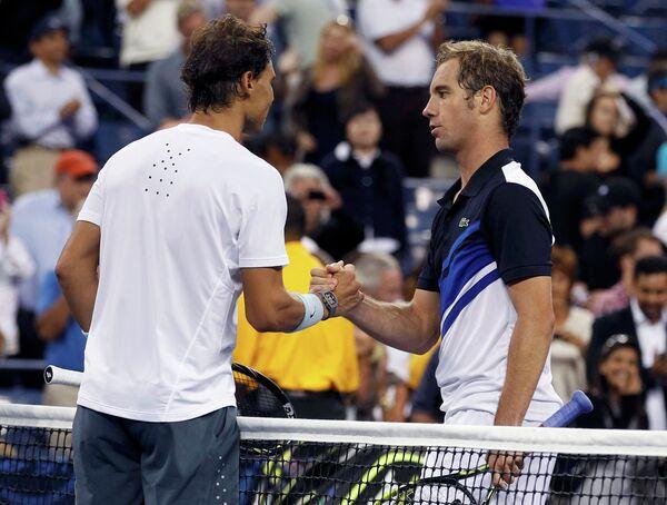 Ришар Гаске после полуфинального матча на US Open против Рафаэля Надаля