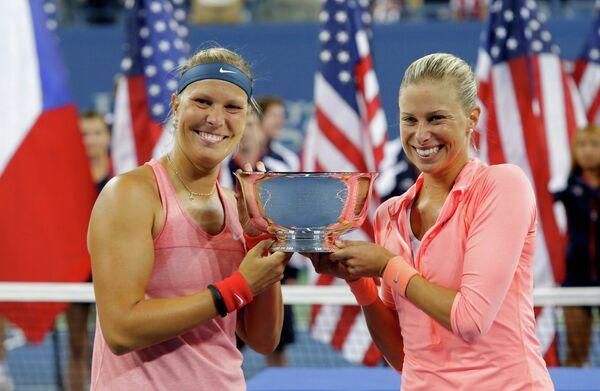 Андрея Главачкова и Люция Градецкая - победительницы US Open-2013 в парном разряде