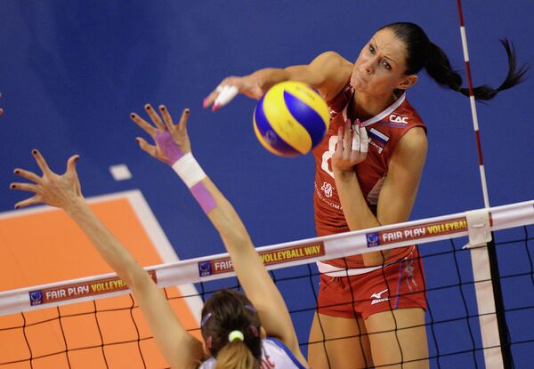 Российская волейболистка Наталья Обмочаева (Гончарова)