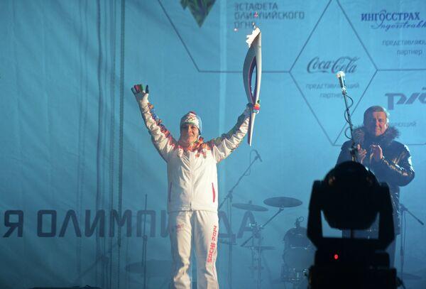 Лыжница Евгения Медведева