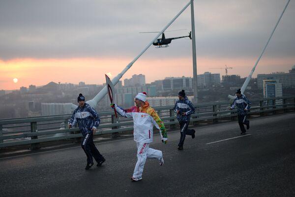 Эстафета олимпийского огня. Владивосток. День 2