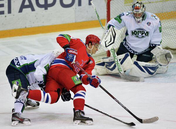 Игровой момент матча ЦСКА - Югра