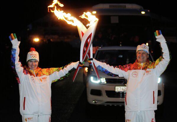 Сергей Медведцев, и двукратная олимпийская чемпионка по биатлону Ольга Медведцева
