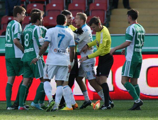 Игровой момент матча Терек - Зенит
