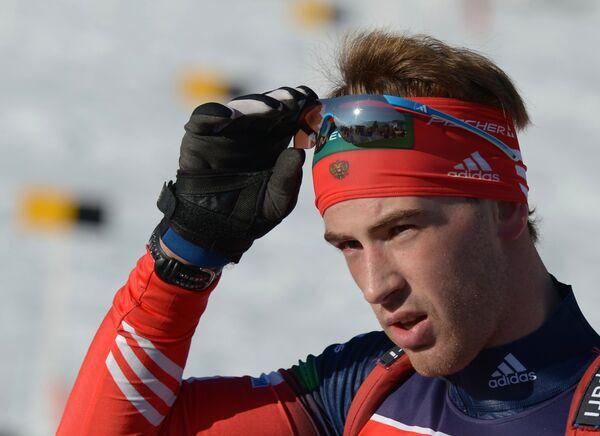 Дмитрий Малышко (Россия) во время официальной тренировки мужчин