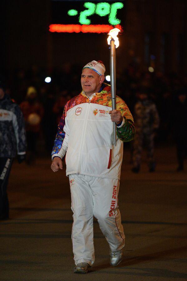 Трехкратный олимпийский чемпион Александр Карелин