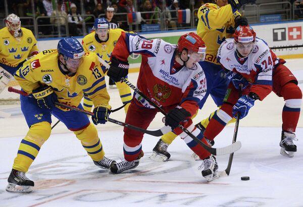 Том Ванделль (Швеция), Егор Аверин (Россия) и Николай Прохоркин