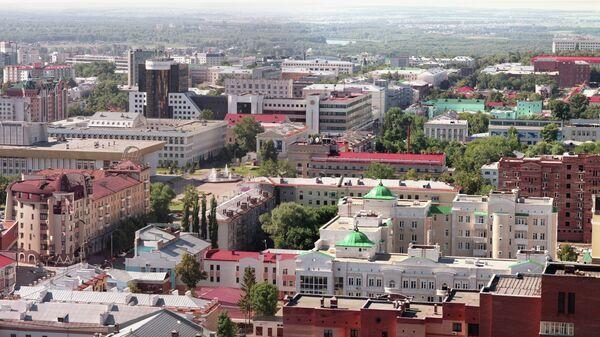Вид на город Уфа