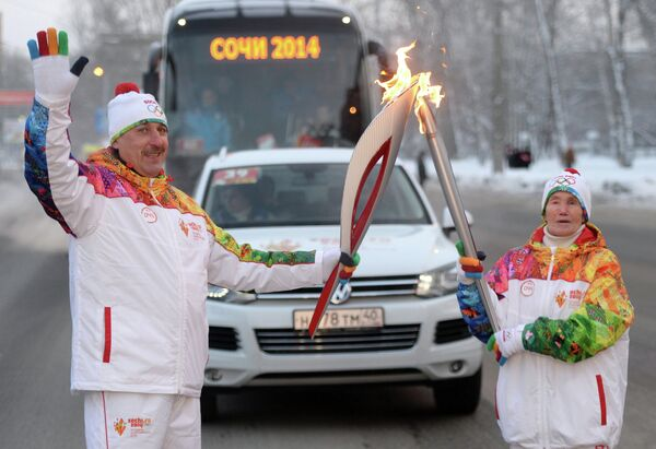 Любовь Паниных и Сергей Чебанов (слева)