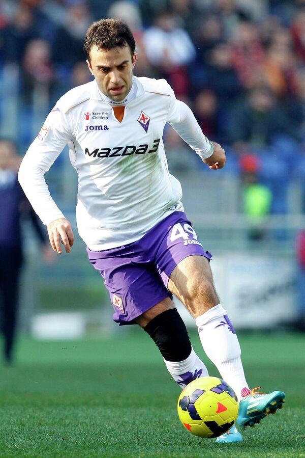 Нападающий итальянского футбольного клуба Фиорентина Джузеппе Росси