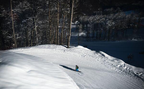Олимпийская горнолыжная трасса.
