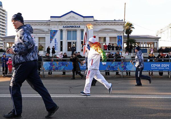 Эстафета Олимпийского огня. Сочи. День 1