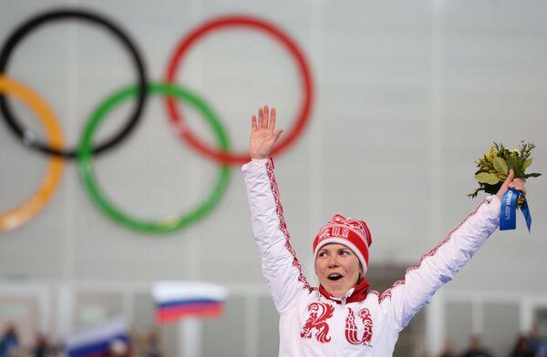 Ольга Граф (Россия), завоевавшая бронзовую медаль в забеге на 3000 метров