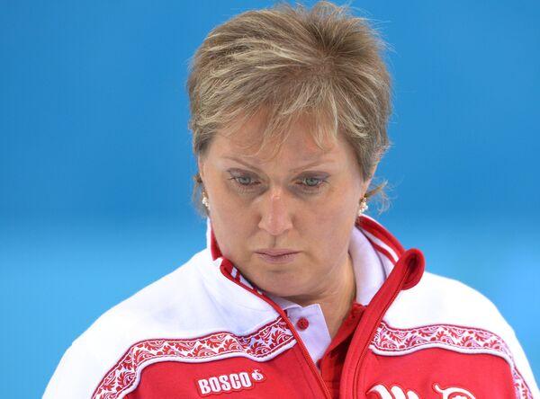 Старший тренер Светлана Калалб . Керлинг. Тренировки