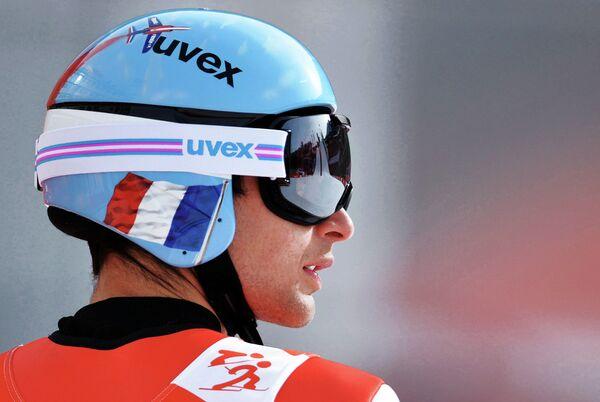 Джейсон Лами-Шаппюи (Франция) на тренировке по лыжному двоеборью на ХХII зимних Олимпийских играх в Сочи
