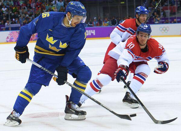 Хоккейный матч Чехия - Швеция