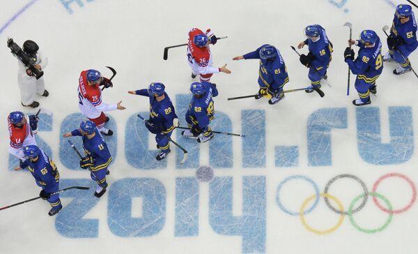 Олимпиада 2014. Хоккей. Мужчины. Чехия - Швеция