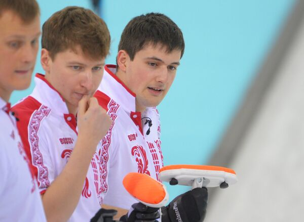 Петр Дрон, Андрей Дроздов и Александр Козырев (слева направо)