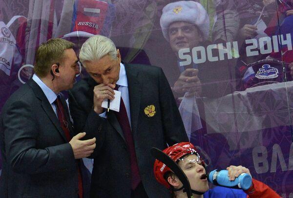 Тренер Валерий Белов вместе с главным тренером сборной России Зинэтулой Билялетдиновым (слева направо)