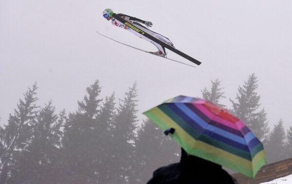Словенский летающий лыжник Петер Превц