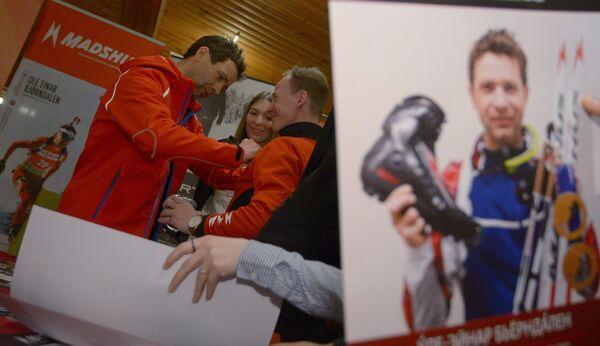 Автограф-сессия биатлониста Уле-Эйнара Бьорндалена