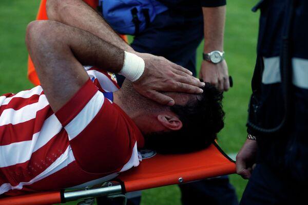 Нападающий Атлетико Диего Коста получил травму в матче чемпионата Испании против Хетафе