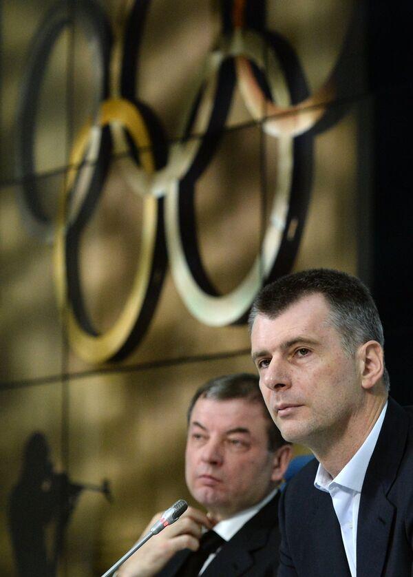 Сергей Кущенко (слева) и Михаил Прохоров