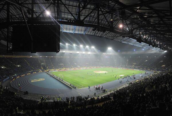 Общий вид стадиона ФК Металлист в Харькове