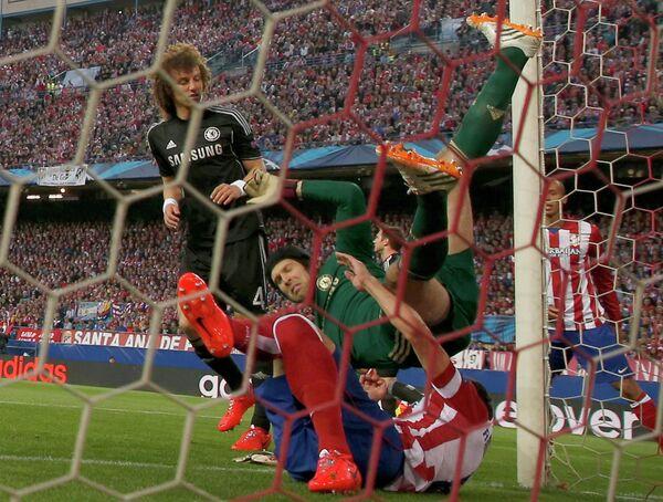 Игровой момент матча Атлетико-Челси