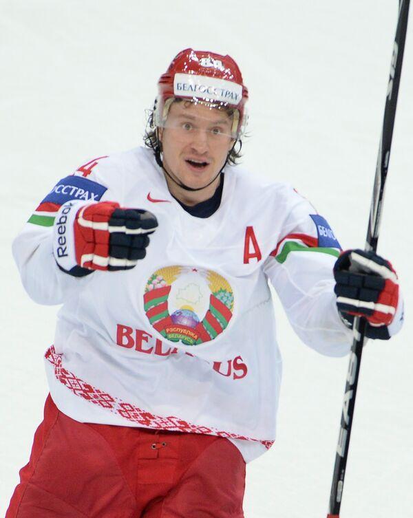 Нападающий сборной Белоруссии Михаил Грабовский