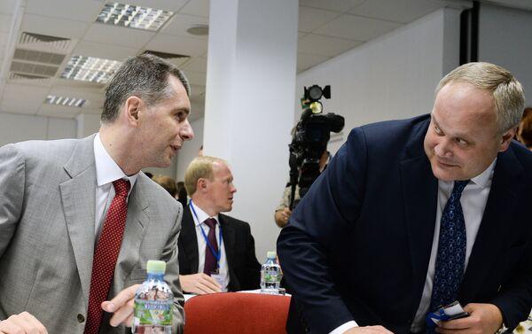 Михаил Прохоров (слева) и Юрий Нагорных
