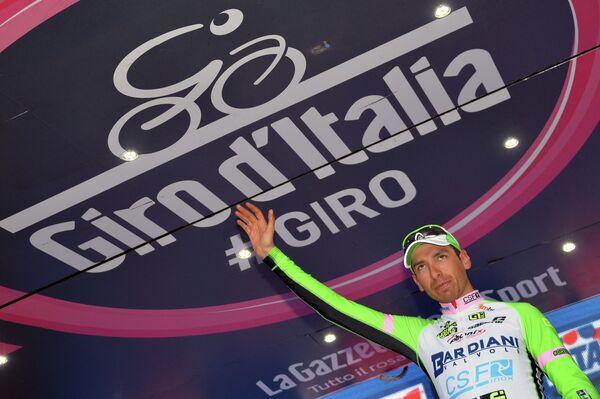 Итальянский велогонщик Стефано Пирацци из Bardiani - CSF
