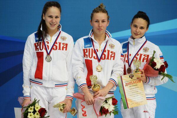 Кристина Ильиных, Диана Чаплиева и Мария Полякова (слева направо)