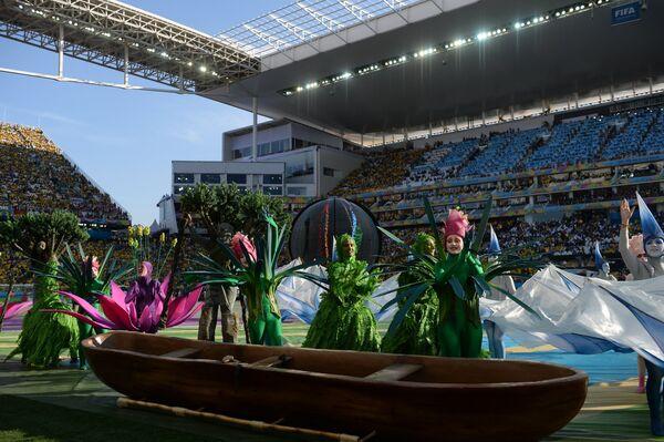 Футбол. Подготовка к матчу открытия чемпионата мира - 2014