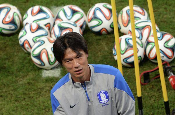 Футбол. Чемпионат мира. Тренировка сборной Южной Кореи