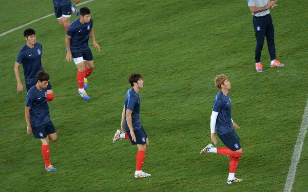 Футбол. Чемпионат мира. Тренировка сборной Республики Корея