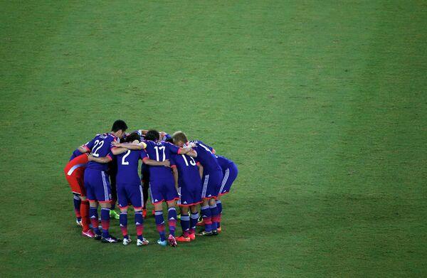 На фото: футболисты сборной Японии.