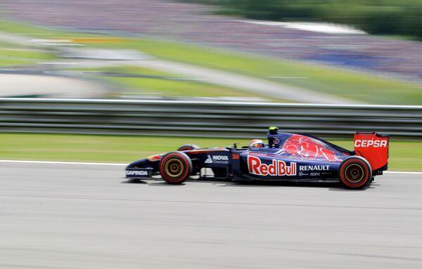 Пилот Торо Россо Даниил Квят на дистанции Гран-при Австрии