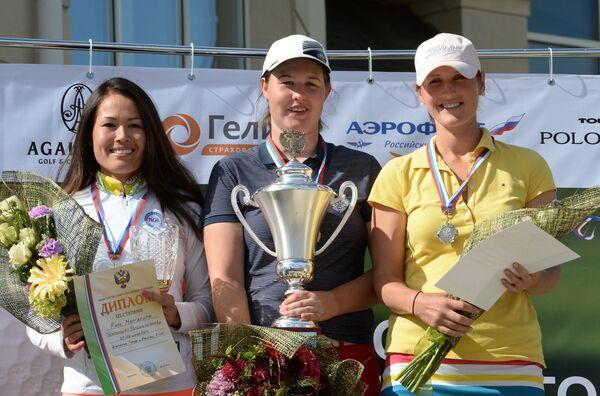 Маргарита Ким (3-е место), Нина Пегова (1-е место) и Галина Ротмистрова (2-е место)