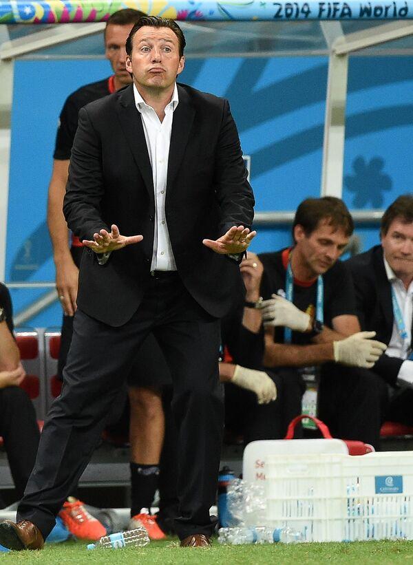 Главный тренер сборной Бельгии Марк Вильмотс