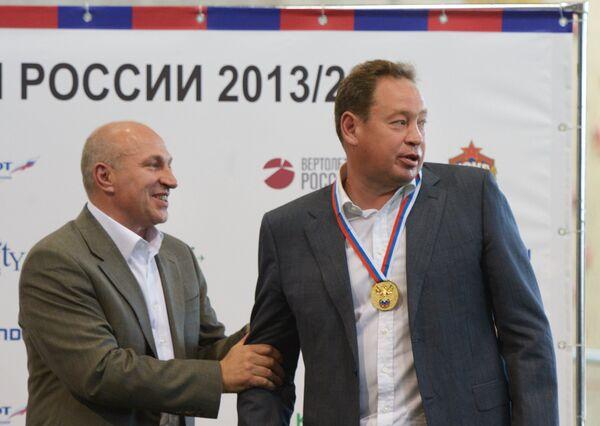 Сергей Чебан и Леонид Слуцкий (слева направо)
